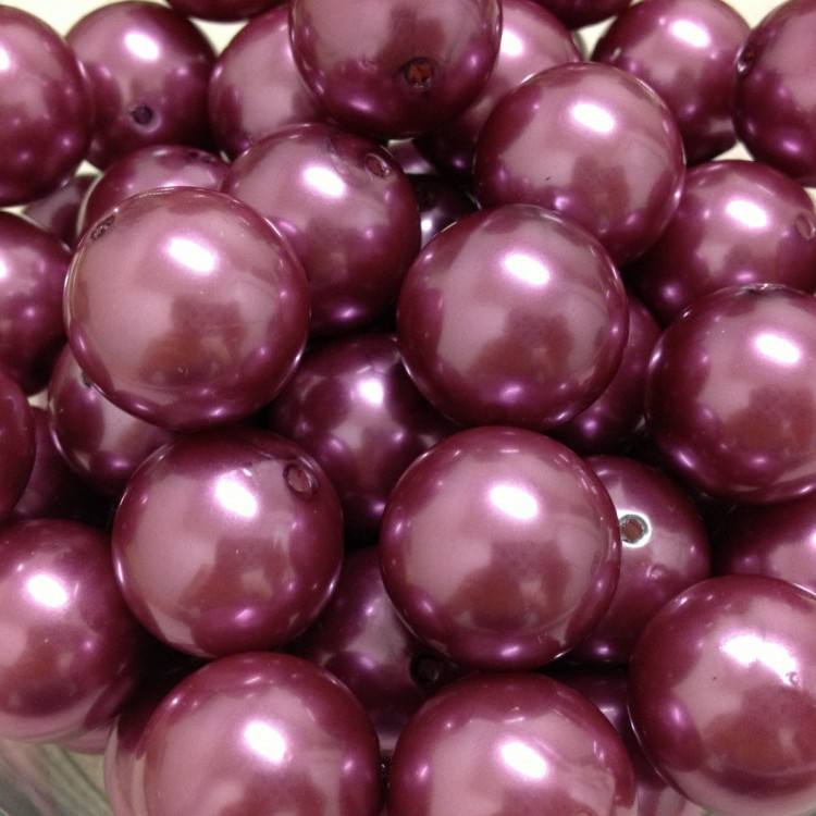 20MM Orchid Round Chunky Plastic Pearl Beads Fashion For Jewelry Making
