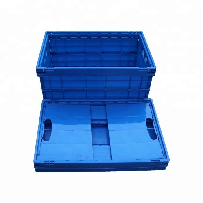 Blue Plastic Folding Container for Any Industry Collapsible Plastic Box for Sale