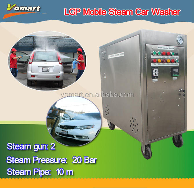 20 Bar Lpg Draagbare Mobiele Stoom Car Wash Machine/Stoom Power Machines Schoonmaken Banken En Tapijt