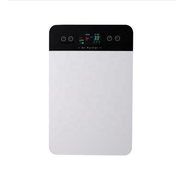 CE certification gifts LCD touch panel pm2.5 hepa anion filter air purifier with PP pre filter
