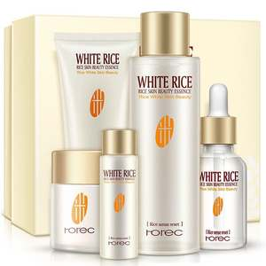 High quality Beauty Personal label Customized white rice skin Care Face Whitening Cream facial cream Set