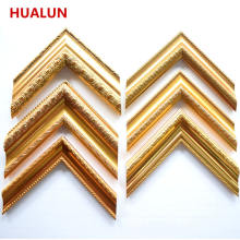 Free Sample Wholesale Customized Cheap Gold Color Ps Picture Frame Moulding