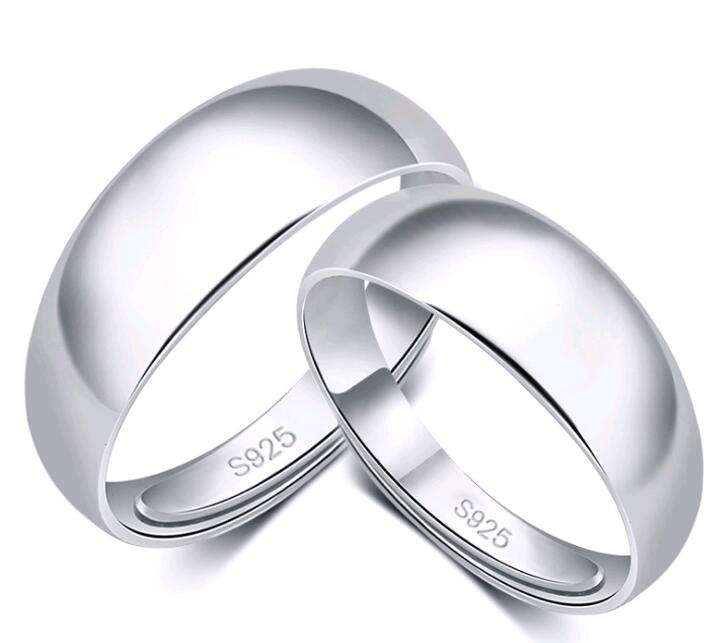 SR104-004 Halo lover's simple cheap sterling silver 925 wedding band couple rings