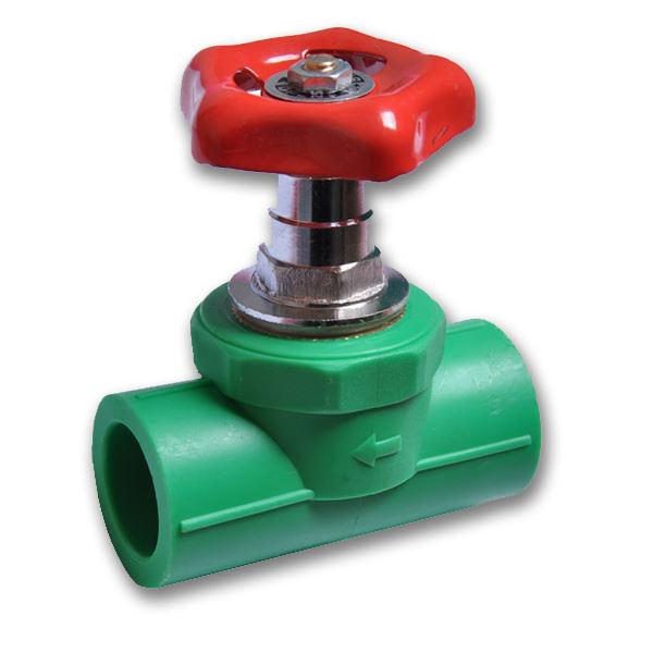 PPR gate valve stop valve green color