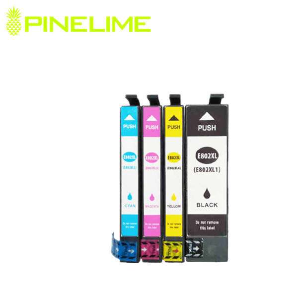 Pinelime Compatible ink cartridge T802 T802XL for Epson Epson WorkForce WF-4720/4740/4745