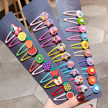 Hot new cute children colorful fruit flower bb clip lovely kids hair clip sets