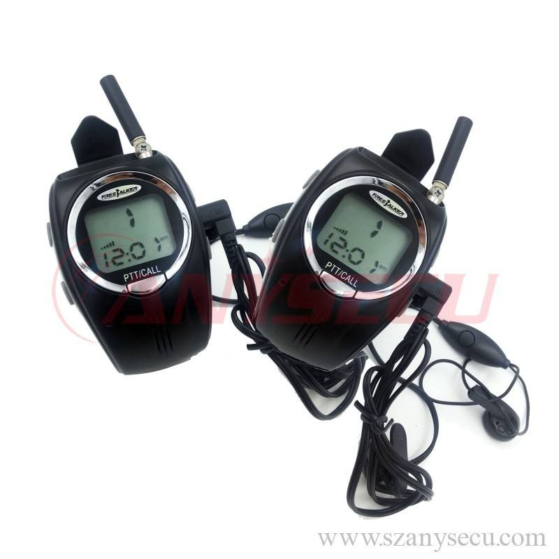 RD-028 2x LCD Digital Two 2-Way Freetalker Walkie Talkie Radio Wrist Watch Black Hot Sale