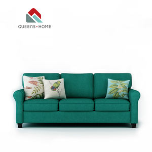 Queenshome 2018 sofa set 3 5 seater 크림 벨벳 soft dfs dark green fabric cover sofa set 가구는 집 living 룸 sofa
