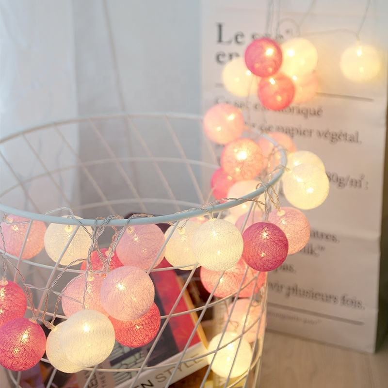 LED Cotton Ball String Light For Christmas Indoor string lights