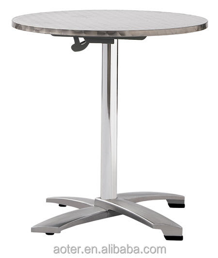 Hot seeling stainless steel curved folding table cheap bq