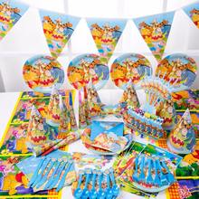 Winnie the pooh party set decorative Children's anime Baby birthday party supplies