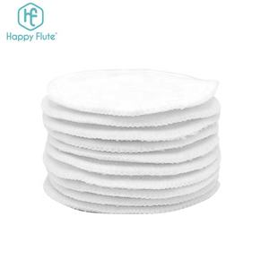 Best quality round bamboo cotton reusable makeup remover pads washable facial cleaning pad with laundry bag