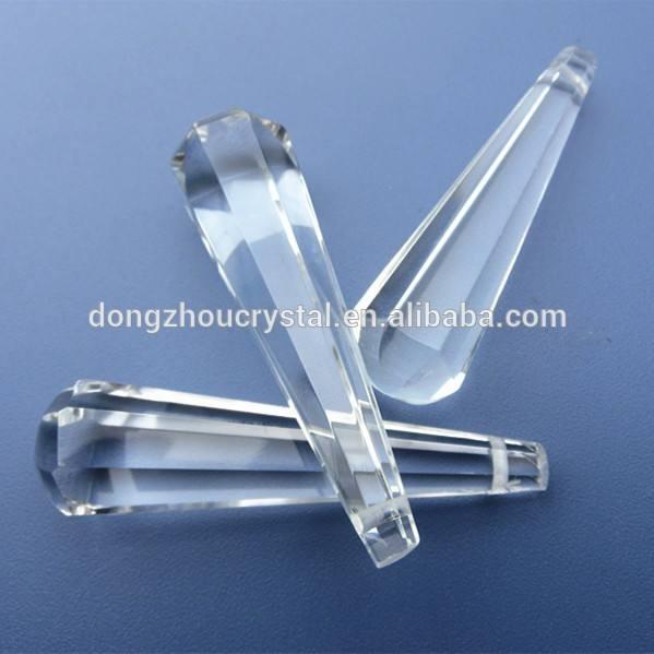 63mm di vetro goccia pendente lampadario di cristallo parti per lampada vacanza decorazione