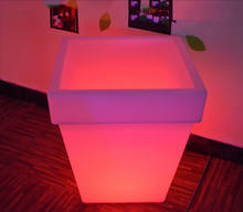 Cheap waterproof 16 Rgb color changing Led Square Ice Bucket