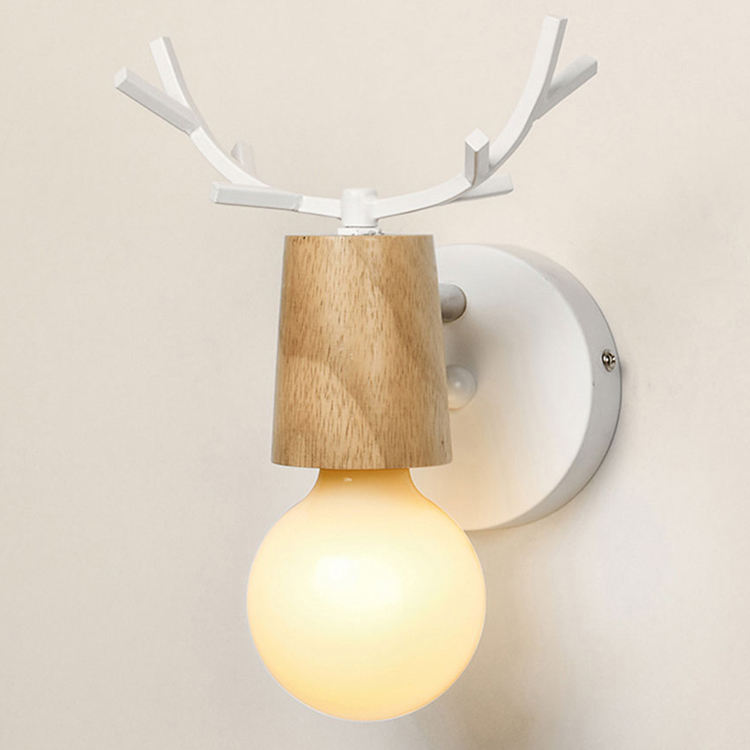 Adjustable LED Wall Lights E27 colorful cartoon Deer Antlers bedroom reading sconce wall mounted
