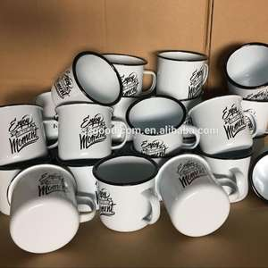 home & garden tin cups wholesale cup steel mugs