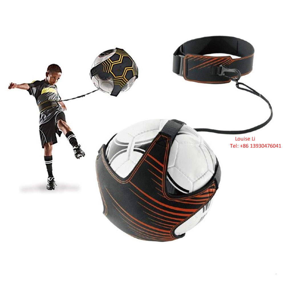 Sport Equipment Adjustable Football Kick Bandage Trainer Control Skills Soccer Training