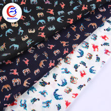 animal cartoon printed wool peach georgette fabric clothes materials for making clothes
