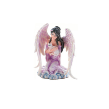 Custom resin crafts sexy angel with cat figurine for sale