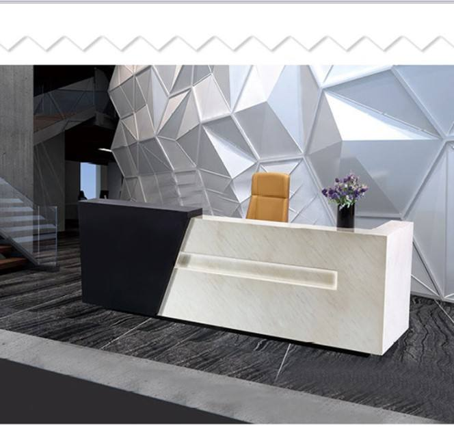 Hot Sales Salon Modern Office Reception With Back Wall Design, reception desk for hotel furniture
