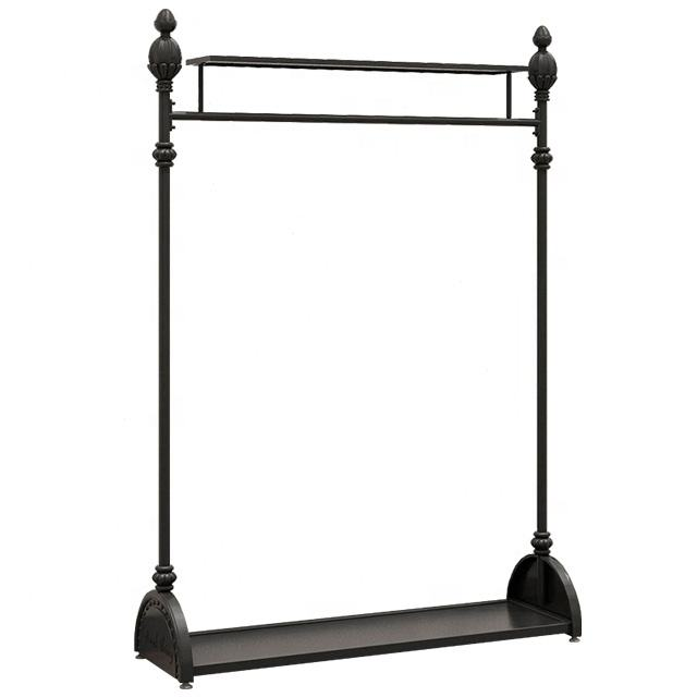 Foshan custom antique clothing store racks metal retail clothes hanging display stand