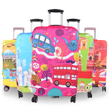 Fashion Print Hot Sales Custom Spandex Luggage Cover for Suitcase