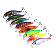 Free shipping 2 overturned hooks Minnow Artificial Fishing Bait 7cm 8.1g Fishing Lure Making Supplies