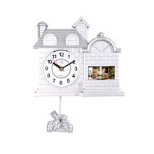 White Cuckoo 24 Hours Wall Clock With Pendulmun Sway(TS20)