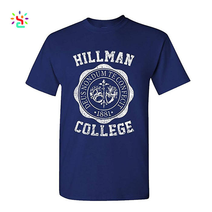 Cheap printed college short sleeve t-shirts modal cotton blank t shirt for students/men manufacturer direct supplier