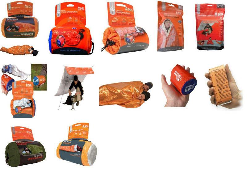 Adventure Medical Kits Heatsheets Emergency Survival Hiking Hunting Bivy Mylar