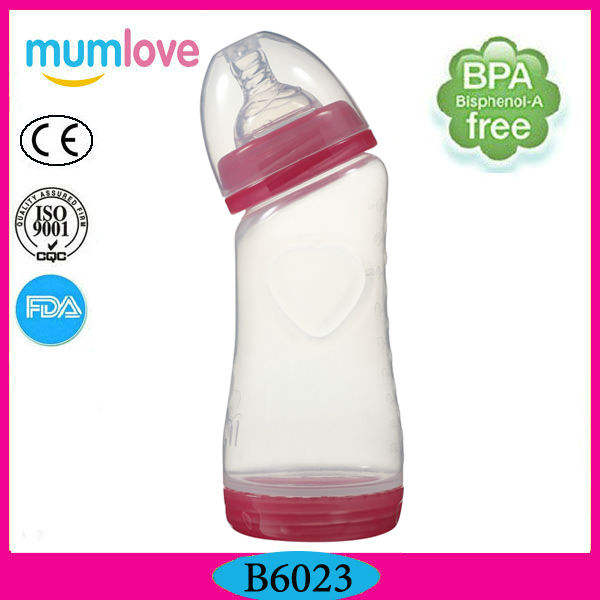 wide neck anti-colic PP curved neck baby bottle PBA free food grade