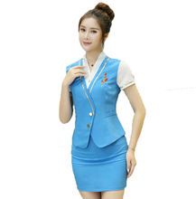 Women hotel uniform for staff Hotel housekeep staff uniform Dress Set