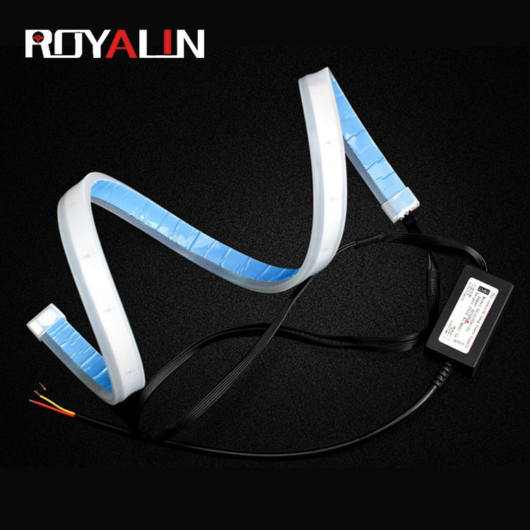 ROYALIN 12V 60CM car daytime Running Water Day led Lights daylight