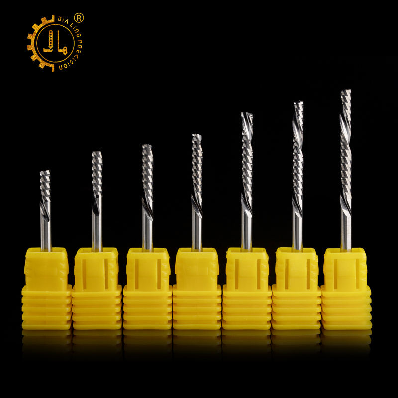 CNC Machine left hand end mills Solid Carbide end mill cutting tools wood cutting