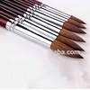 6pcs Round Point Tip Paint Brush Set Kolinsky Sable Hair Artist Quality Art Painting Brush