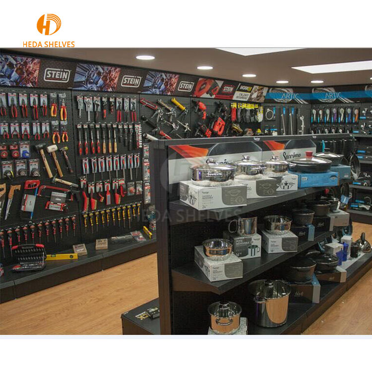 China Supplier Pegboard Tools Hardware Display Shelf Metal Tools Stand Display Stand For Hanging Items Store