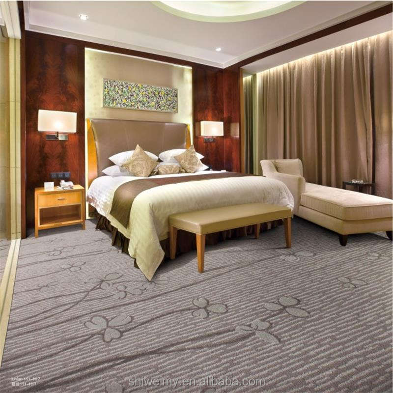 Plain color clover pattern high cut low loop carpet for star hotel