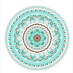 China Factory Production Wholesale High Quality Soft MicroFiber Round mandala Beach Towel For Beach or Yoga