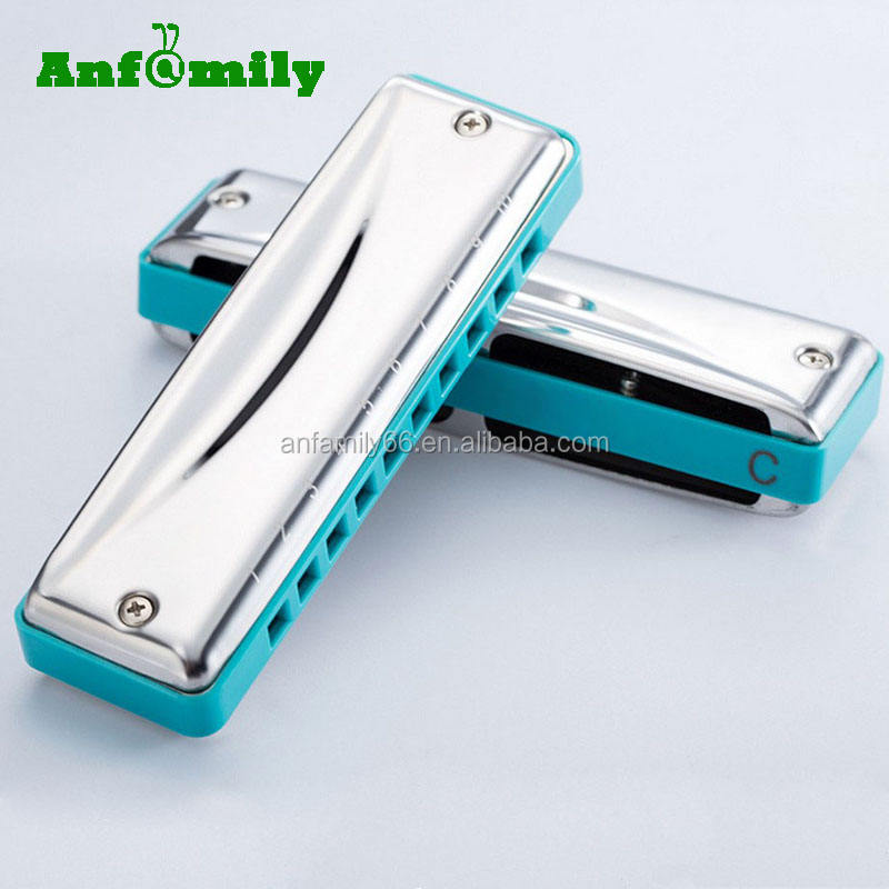 Professional 10 holes 20 tones senior blues square harmonica