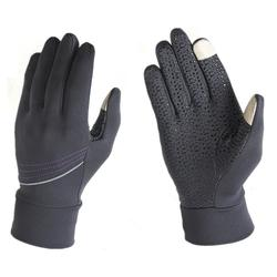 new design warm polar fleece touch screen glove with silcone palm