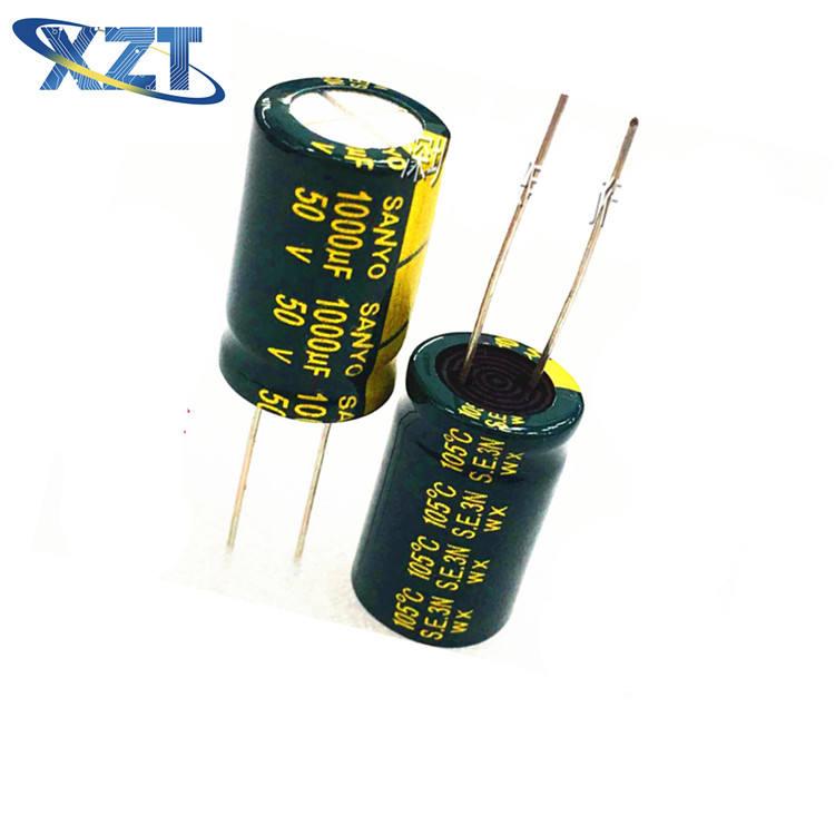 10PCS//LOT 50v 1000uf 1000mf Electrolytic Capacitor 1000UF 50V 13x25mm IC