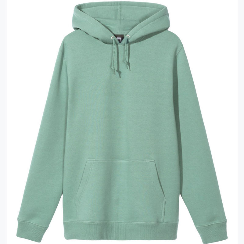 Mens Mint Green Custom Clothing Jumper Hooded Pullover Tops Blouse