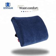 Soft Velvet Fabric Cover Memory Foam Lumbar Support Back Cushion for Back Relief