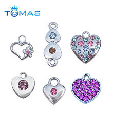 Hot sale decorative cute rhinestone heart pendant