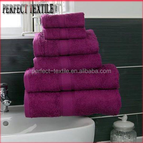 Fashionable 100%cotton combed 6 Piece Towel Bale