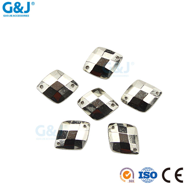Guojie marke hohe qualität ABS LE kundengebundene farbe raute kristall strass