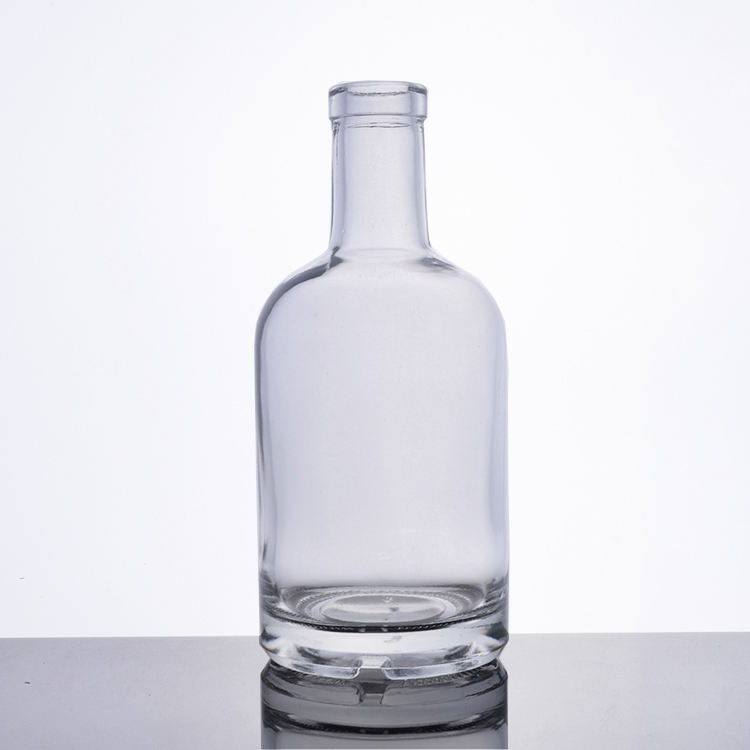200ml 375ml 700ml custom crystal frosted vodka glass bottle