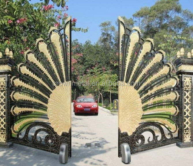 luxury Beautiful Residential Wrought Iron Gate Designs/Models/Wrought Iron Main Gates