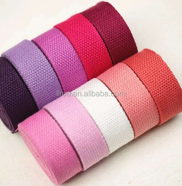 Colorful Woven Cotton Webbing Bag Strap