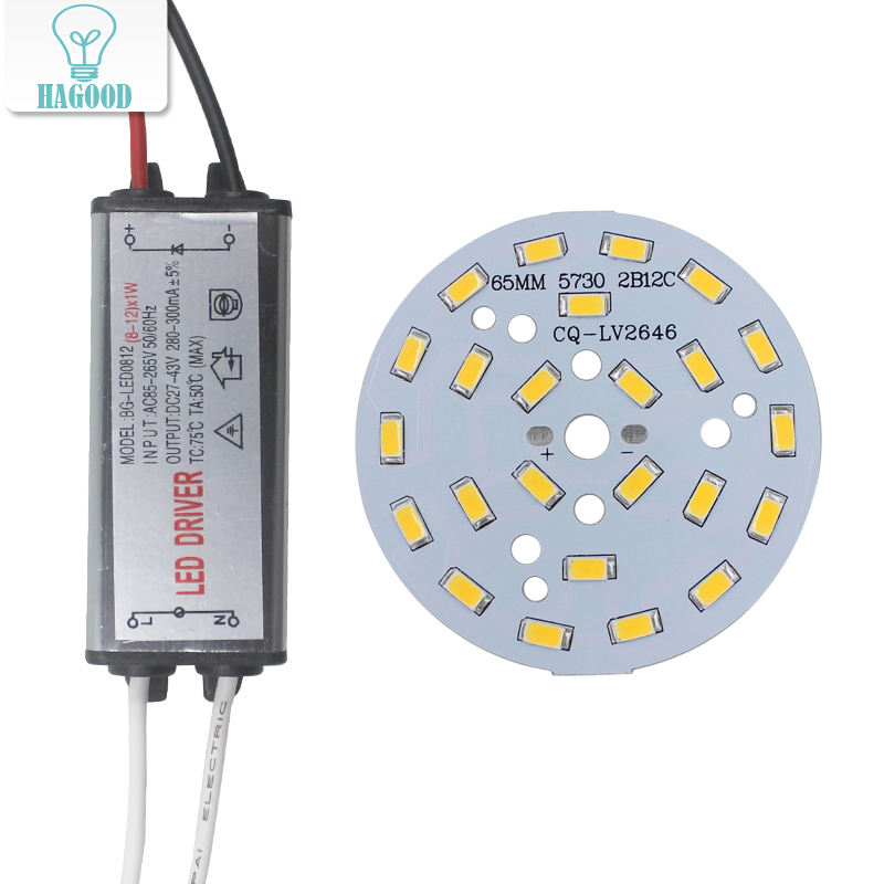 1 set LED 5730 SMD lamp bead 3-12W waterproof driver AC85-265V driver power lighting transformer 280-300mA for lamps